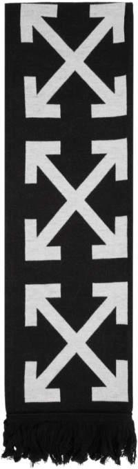Off-White Off White Black Arrow Scarf