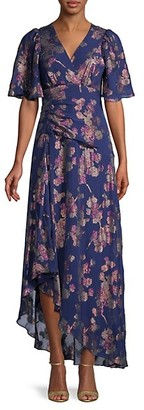 Shoshanna Moody Floral-Print Silk-Blend Gown