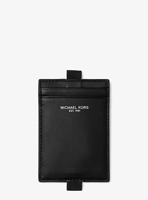 Michael Kors Leather Lanyard Id Case