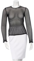 ADAM by Adam Lippes Perforated Long Sleeve Top