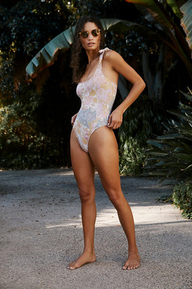 Beach Riot Sydney One-Piece Swimsuit By in Pink Size XS