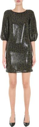 Boutique Moschino Animal Print Mini Dress
