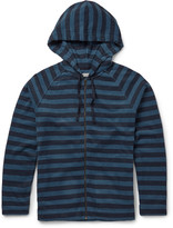 Outerknown - Lowtide Striped Cotton-blend Terry Zip-up Hoodie