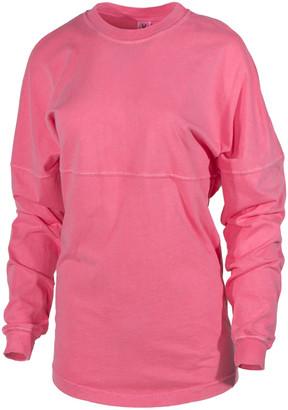 Blush B-Lush Venley Women's Tee Shirts Blush - Blush Oversize Long-Sleeve Football Tee - Women