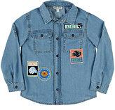 Kenzo Badge-Patchwork Chambray Shirt