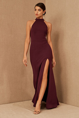 BHLDN Montreal Crepe Maxi Dress By in Purple Size Us 26/uk 30