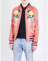 Gucci Embroidered Satin Bomber Jacket