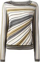 Diane von Furstenberg striped knitted top - women - Silk/Cotton/Polyester/Viscose - S