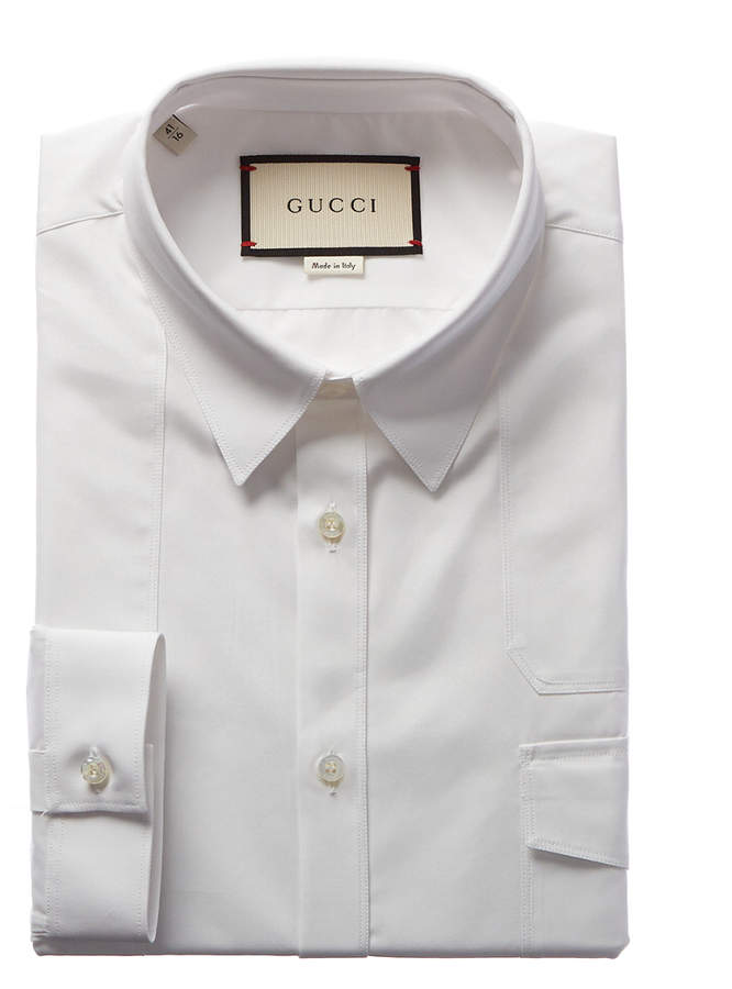 Gucci Duke Bee Web Cotton Dress Shirt