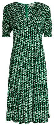 Diane von Furstenberg Jemma Printed Midi Dress