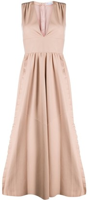 RED Valentino Ruffle Trims Long Dress