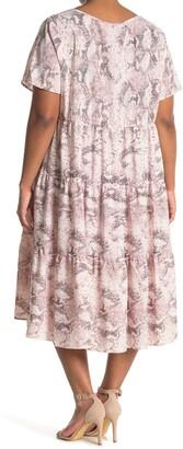 WEST KEI Woven Short Sleeve Babydoll Dress