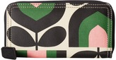 Orla Kiely Matt Laminated Stripe Tulip Print Big Zip Wallet