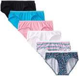 Fruit of the Loom Women's 6 Pack Assorted Cotton Low-Rise Hipster Panties