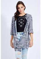 Select Fashion Fashion Patchwork Split Back Kimono Soft Jackets - size 6