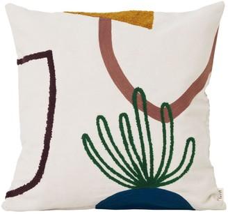 ferm LIVING Mirage Island Cotton Pillow