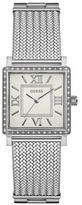 GUESS Highline Silvertone Braided Metal Bracelet Watch
