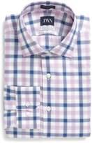 John W. Nordstrom Men's Trim Fit Plaid Dress Shirt