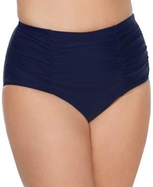 Raisins Curve Trendy Plus Size Costa High-Waist Tummy-Control Bikini Bottoms Women's Swimsuit