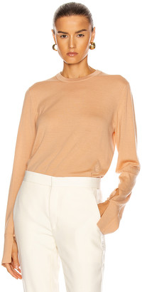 Chloé Crew Neck Sweater in Honey Nude | FWRD