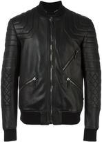 Philipp Plein quilted bomber jacket - men - Sheep Skin/Shearling/Viscose - M