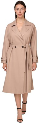 Marina Rinaldi Belted Viscose Twill Trench Coat