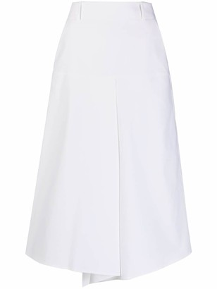 Incotex Front-Pleat Midi Skirt