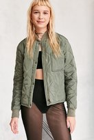 Silence & Noise Silence + Noise Quilted Liner Bomber Jacket
