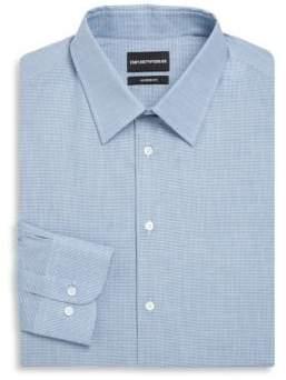 Emporio Armani Modern Fit Micro Box Stretch Dress Shirt