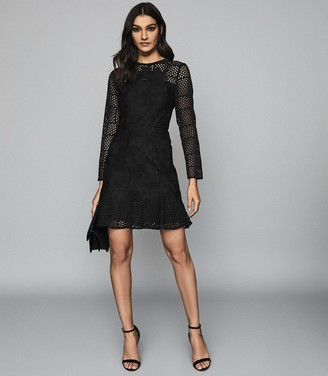 Reiss BAPTISTE LACE DRESS Black