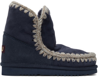 Mou Navy 18 Ankle Boots