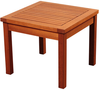 International Home Miami Amazonia Eucalyptus Wood Side Table