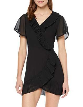 Glamorous Women's WRAP Dress (Black Bk), (Size:)