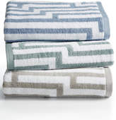 """Hotel Collection Circuitry 13"""" Square Turkish Cotton Washcloth, Created for Macy's"""