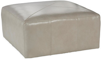 One Kings Lane Kinson Cocktail Ottoman - Oyster Leather