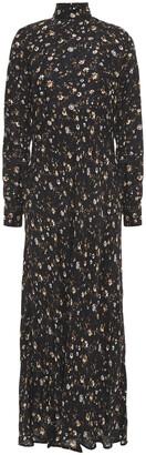 IRO Cutout Floral-print Twill Midi Dress