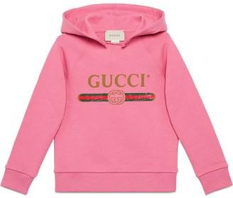 Gucci Kids Logo Hooded Sweatshirt