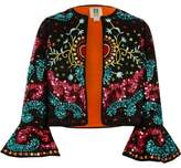 River Island Girls black RI Studio embellished jacket