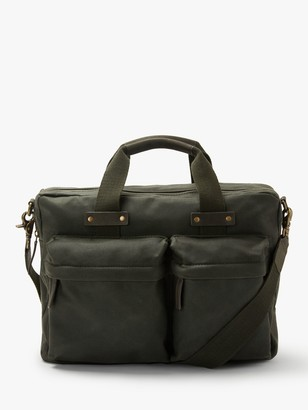 John Lewis & Partners Keswick Waxed Cotton Messenger Bag