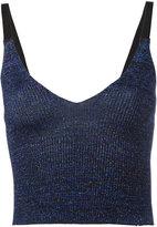 Kenzo cropped metallic knit tank top - women - Polyamide/Polyester/Spandex/Elastane/viscose - XS