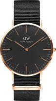 Daniel Wellington Classic Black Cornwall NATO-strap stainless steel watch