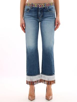 Alanui Fringed Hem Boyfriend Jeans