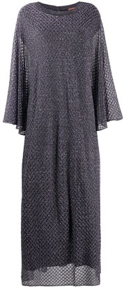 Missoni Glittered-Knit Kaftan Dress