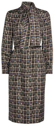 Max Mara Meana Print Mini Dress