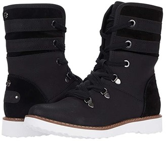 Roxy Monika Faux Leather Boots (Black) Women's Boots