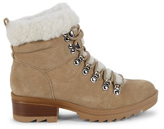 Marc Fisher Shearling-Trim Suede Winter Boots