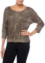 XOXO Chain Neck Sequin Pullover