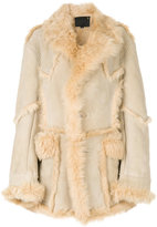 R 13 shearling coat