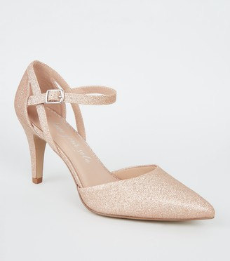 New Look Wide Fit Glitter 2 Part Court Shoes