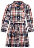 Ralph Lauren Girls' Girls' Madras Plaid Shirtdress - Little Kid